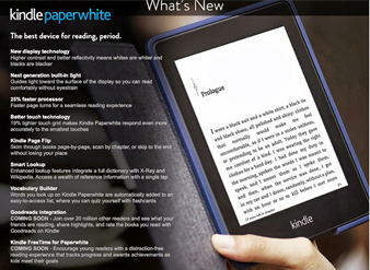 Ouch! Text to speech is also AWOL from THIS year's Paperwhite from Amazon