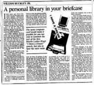 William F. Buckley, Jr. on digital libraries, privacy and Andrew Carnegie: Read his words from 1993