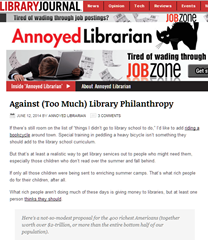 Library groupthink vs. kids: Library Journal blogger misses nuances of digital library endowment plan