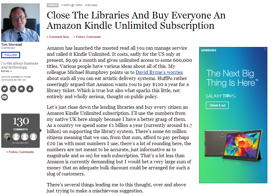 Close The Libraries And Buy Everyone An Amazon Kindle